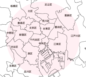商圏エリア地図