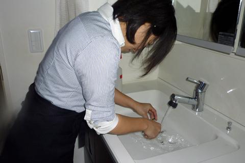 洗面台お掃除